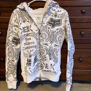 Fox Sherpa lined sweat shirt